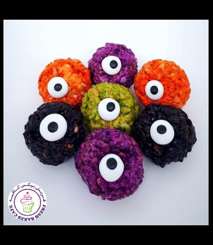 Halloween Themed Krispie Treats w/o Sticks - Eyeballs