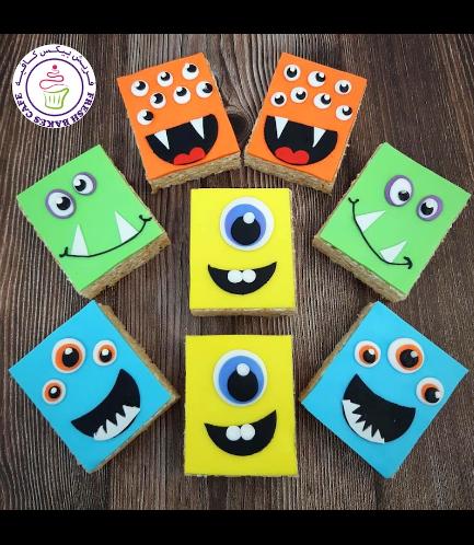Halloween Themed Krispie Treats w/o Sticks - Monsters 03