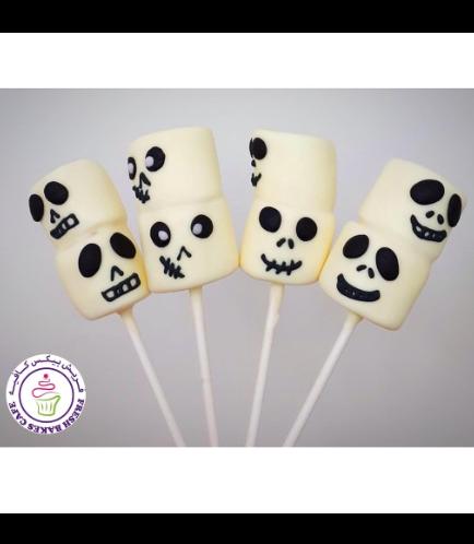 Marshmallow Pops - Jack Skellington