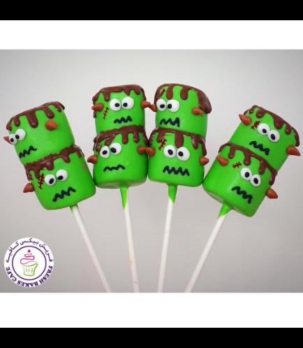 Marshmallow Pops - Frankenstein