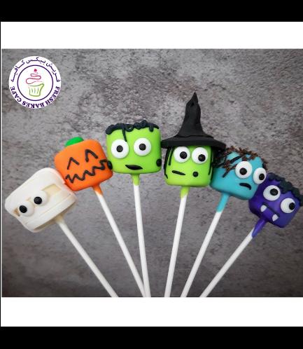 Halloween Themed Marshmallow Pops - Miscellaneous