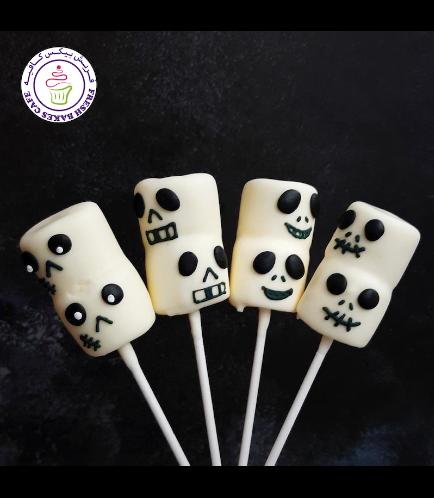Halloween Themed Marshmallow Pops - Jack Skellington