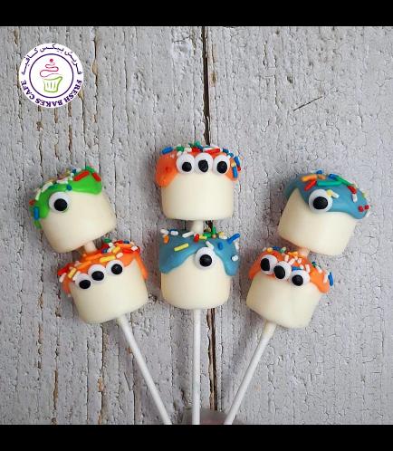 Halloween Themed Marshmallow Pops - Monsters 01