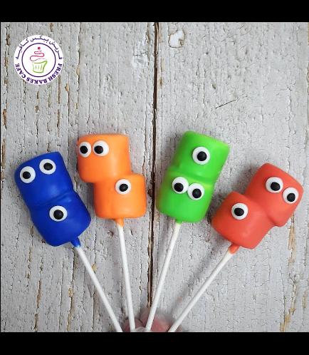 Halloween Themed Marshmallow Pops - Monsters 02