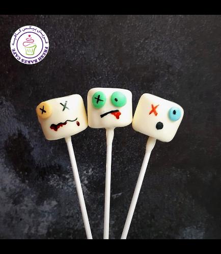 Halloween Themed Marshmallow Pops - Zombies