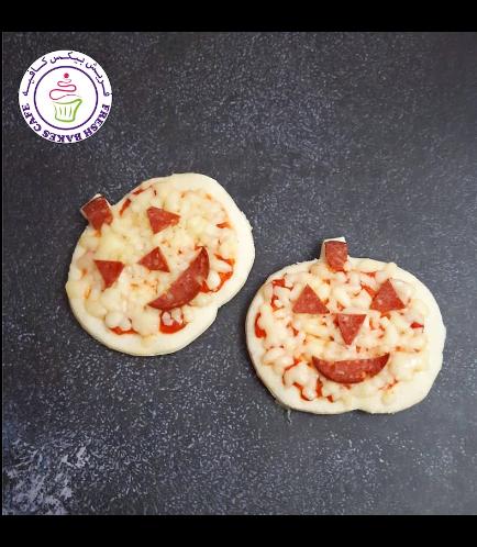 Halloween Themed Pizza - Jack-O-Lantern - Minis