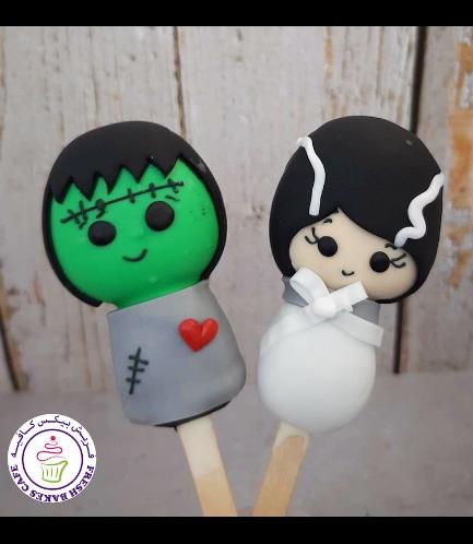 Halloween Themed Popsicakes - Frankenstein & His Bride