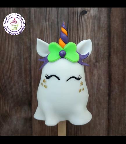 Halloween Themed Popsicakes - Ghost Unicorn