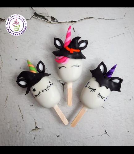 Halloween Themed Popsicakes - Unicorn