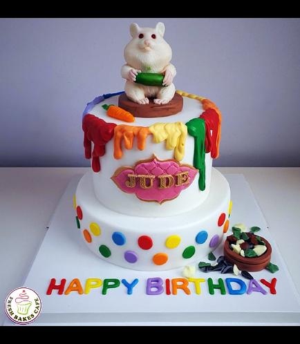 Hamster Themed Cake - 3D Cake Topper