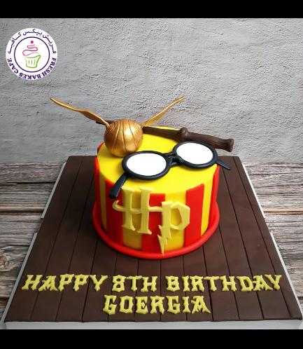 Cake - Golden Snitch - 3D Cake Topper 03