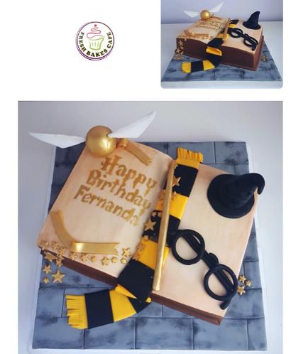 Cake - Book - 3D Cake - Open Book 03