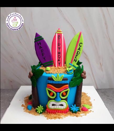 Cake - Hawaiian - Tiki - 1 Tier