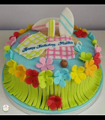 Hawaiian Themed Cake - Surf Boards