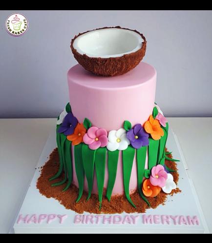 Hawaiian Themed Cake - Coconut