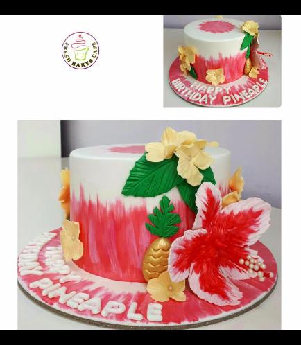 Cake - Hawaiian - Pineapple & Hibiscus - Pink