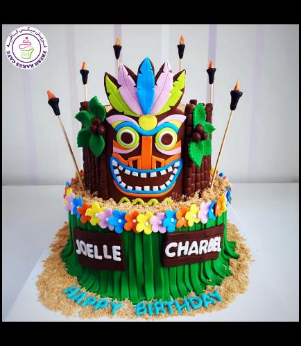 Cake - Hawaiian - Tiki - 2 Tier 02