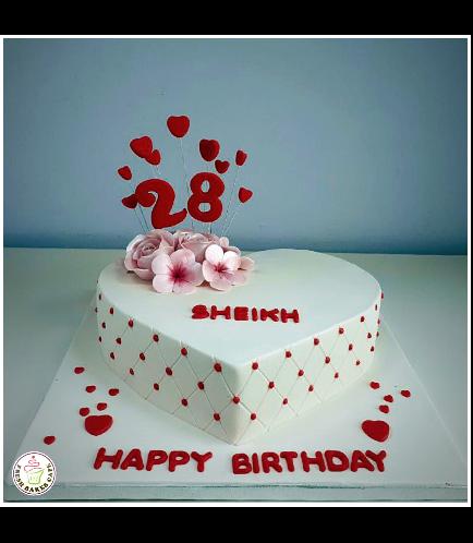 Cake - Heart Cake - Flowers 02b