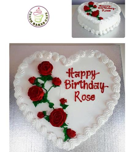 Cake - Heart Cake - Roses 04
