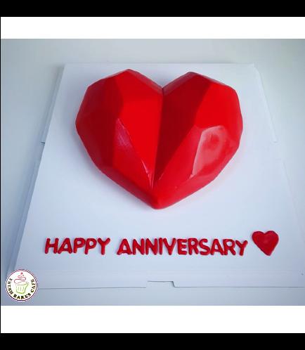 Cake - Heart Cake - Geometrical Shape