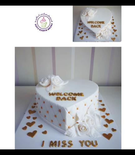 Cake - Heart Cake - Roses 05