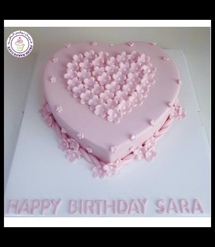Cake - Heart Cake - Flowers 03