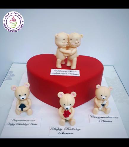 Cake - Heart Cake - Bears 3D Cake Toppers 01