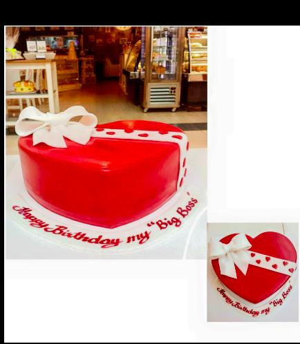 Cake - Heart Cake - Ribbon
