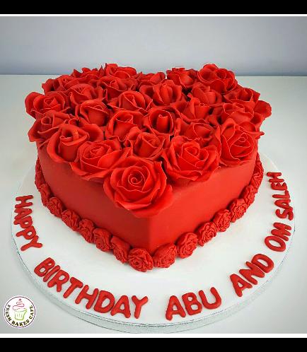 Cake - Heart Cake - Roses 03