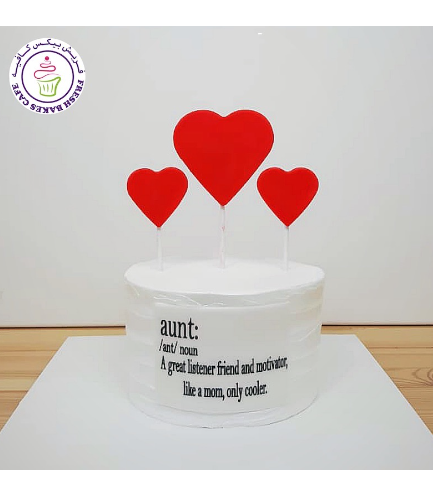 Cake - Heart - 2D Cake Toppers