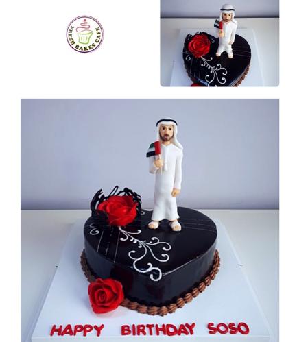 Man Themed Cake - 3D Cake Topper - UAE 02