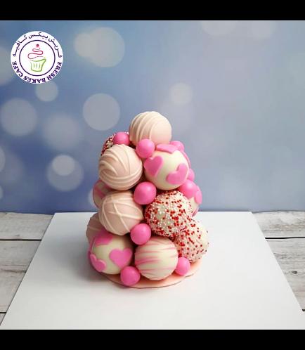 Heart Themed Cake Pops Tower