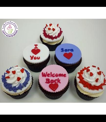 Cupcakes - Hearts