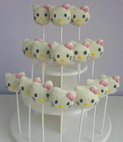 Hello Kitty Themed Cake Pops 02