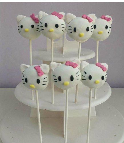 Hello Kitty Themed Cake Pops 01