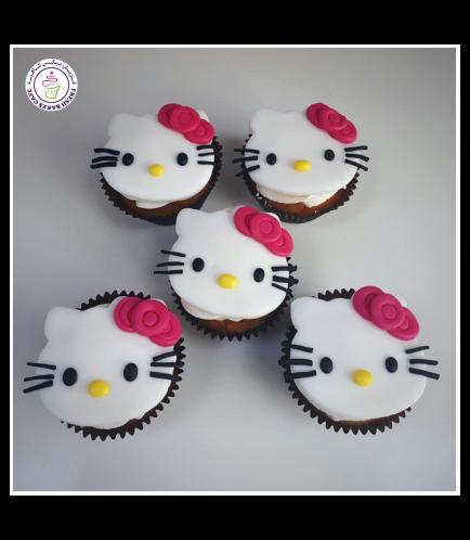 Hello Kitty Themed Cupcakes 01