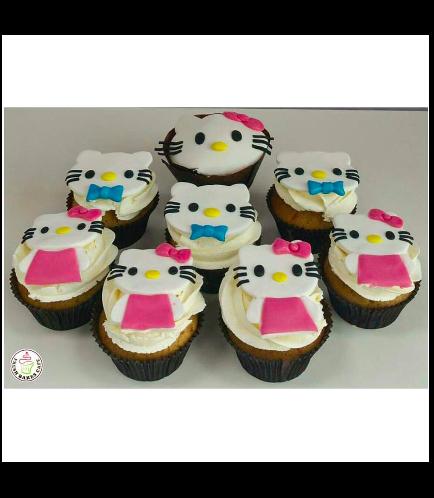 Hello Kitty Themed Cupcakes 02