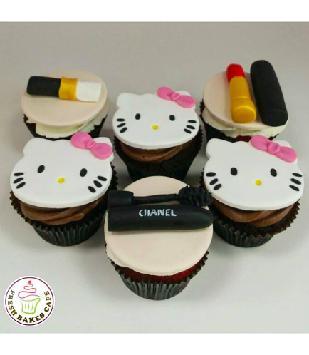 Hello Kitty Themed Cupcakes 03