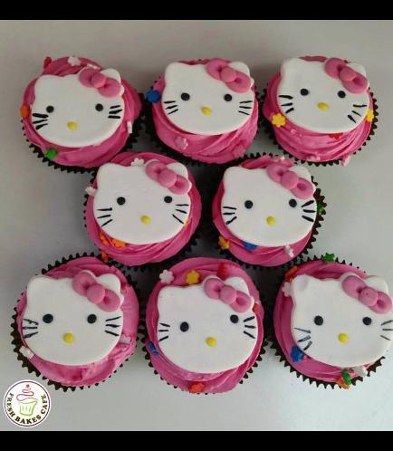 Hello Kitty Themed Cupcakes 04