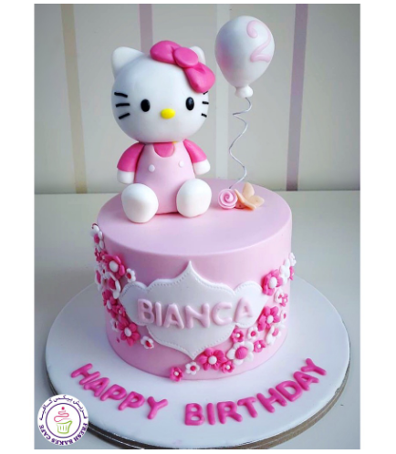 Hello Kitty Themed Cake - 3D Cake Toppers 01