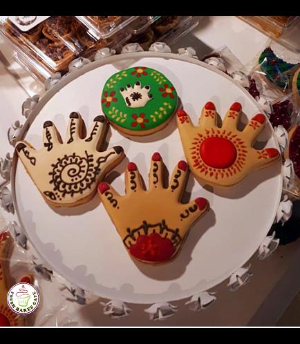 Henna Hand Themed Cookies 01