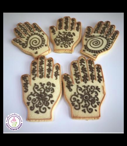 Henna Hand Themed Cookies 03