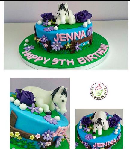 Horse Themed Cake - 3D Horse Cake Topper 02