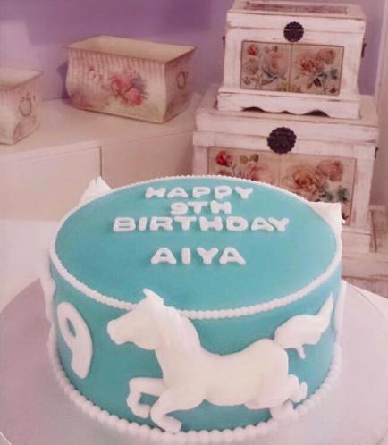 Horse Themed Cake - 2D Cake Topper - 1 Tier