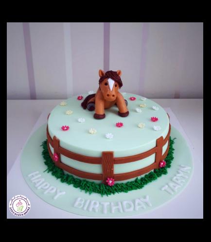 Horse Themed Cake - 3D Horse Cake Topper 03