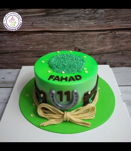 Horseback Riding Themed Cake 02a