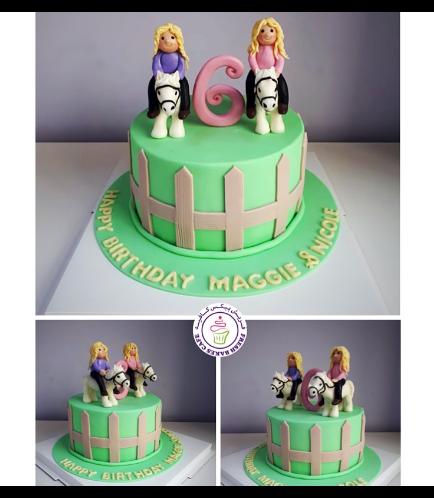 Horseback Riding Themed Cake - 3D Horse Cake Topper 02