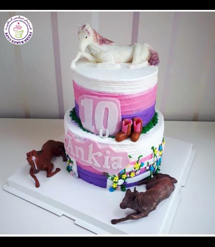 Horseback Riding Themed Cake - 3D Horse Cake Topper 04b