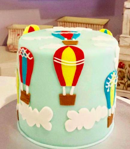 Hot Air Balloon Themed Cake 02