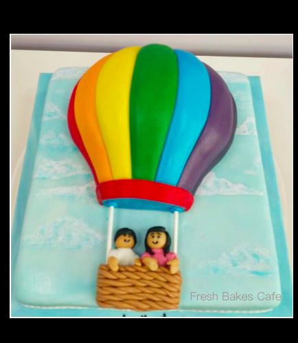 Hot Air Balloon Themed Cake 03
